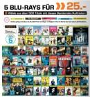 Saturn: 5 für 25€ Multibuy Aktion aus über 500 Blu-ray wählen (25.06. – 16.07.17) z.B. Deadpool, Der Marsianer