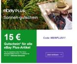 eBay.de: 15€ Gutschein für Ebay Plus Mitglieder ab 50€ MBW bis zum 30.06.17