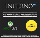 Wuaki.tv: Leihfilm Inferno in HD + 12 Monate Xbox Gold Mitgliedschaft für 35,99€