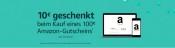 Amazon.de: 10 EUR Aktionsgutschein, beim Kauf eines 100 EUR Amazon-Gutscheins (Exklusiv für Prime-Kunden)