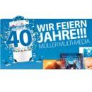 Amazon kontert Müller: Müller feiert 40 Jahre Multi-Media (31.07. bis 05.08.17)