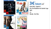 Mueller.de: 3€ gespart auf z.B. John Wick 2, Wendy …. gültig am 28.07.17
