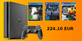 Saturn.de: Paypal Aktion – PlayStation 4 Slim 1TB + The Last Guardian + Prey Day One Edition + PES 2016 für 224,10€ inkl. VSK