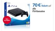 Müller: 70€ Rabatt  auf alle verfügbaren  PS4 Konsolen bis 06.08.17