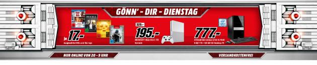 MediaMarkt.de: Gönn Dir Dienstag u.a. Xbox One S 1TB Konsole für 195€
