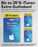 [Lokal] Kaufland: bis zu 20% iTunes Extra Guthaben (vom 19.10. – 25.10.17)