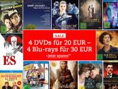 Thalia.de: 4 DVDs für 20€ / 4 Blu-rays für 30€ (bis 29.10.2017)
