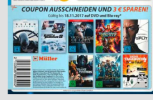 Müller: 3€ Rabatt auf 8 Titel z.B. FF8, Alien- Convenant, SPLIT, Guardians of the Galaxy 2 usw. bis 18.11.17