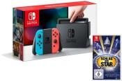 Lidl.de: Nintendo Switch Neon-Rot/Neon-Blau mit Schlag den Star für 301,05€ inkl. VSK
