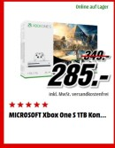 MediaMarkt.de: Türchen Nr. 6 – MICROSOFT Xbox One S 1TB – Assassins's Creed Origins für 285€ inkl. VSK