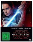 Amazon.de: Star Wars: Episode 8 – Die letzten Jedi (Limited Edition, Steelbook, Blu-ray 3D + Blu-ray) für 16,37€ + VSK