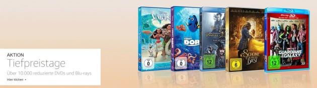 Amazon.de: Tiefpreistage – über 10.000 reduzierte Blu-rays und DVDs (bis 17.12.17)