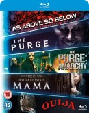 Zoom.co.uk: Mama/The Purge/The Purge: Anarchy/Ouija/As Above, So Below (Box Set) [Blu-ray] für 8,20€ inkl. VSK