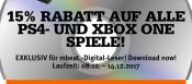 Mueller.de: 15% Rabatt auf alle PS4 und Xbox One Spiele (bis 14.12.17) für mbeat.Digital Leser!