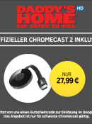 Rakuten.tv: Chromecast 2 + Daddy's home in HD als LEIHFILM für 27,99€