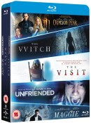 Zoom.co.uk: The Witch + Crimson Peak + Maggie + The Visit & Unfriended [Blu-ray] für 10,10€ inkl. VSK