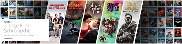 Amazon.de: 7 Tage Film-Schnäppchen mit bis zu 10 EUR Sofortrabatt! (bis 11.02.18)