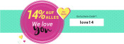 Medimops.de: Valentinstag – 14% Rabatt auf alles! (nur heute gültig)