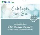 Thalia.de: 20% Online-Gutschein auf alles für Neukunden