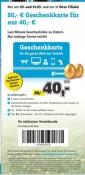 Conrad.de: 50€ Conrad Geschenkkarte für 40€ kaufen (offline am 29.03. + 31.03.2018)