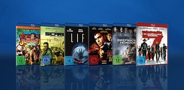 Amazon.de: Neue Aktionen u.a. 10 Blu-rays für 50 EUR (bis 06.05.18)