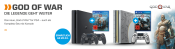 Saturn.de: God of War Angebote z.B. PS4 1 TB inkl. God of War und 2 x DUALSHOCK®4 Wireless-Controller für 299€ + VSK