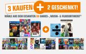 Saturn.de: 5 für 3 Aktion auf Filme, Games & Musik (bis 04.06.18)