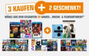 Amazon kontert Saturn.de: 5 für 3 Aktion auf Filme, Games & Musik (bis 04.06.18)