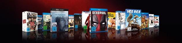 Amazon.de: 15% Rabatt auf über 1.200 Blu-rays und DVDs (bis 27.05.18)