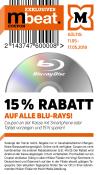 Mueller.de: 15% Gutschein auf alle Blu-rays bis 17.05.18