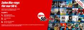 MediaMarkt.de: 10 Blu-rays für 50€ inkl. VSK (Auswahl aus über 100 Filmen)