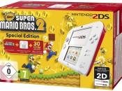 Amazon.de: Nintendo 2DS – Konsole (weiß + rot) inkl. New Super Mario Bros. 2 (vorinstalliert) für 69,99€ inkl. VSK