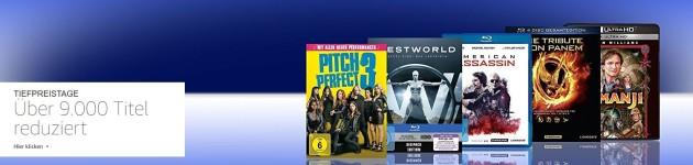 Amazon.de: Tiefpreistage – über 9.000 reduzierte Blu-rays und DVDs (bis 10.06.18)