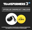 Rakuten.tv: Chromecast 2 + Transformers 3 in HD als LEIHFILM für 27,99€