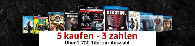 Amazon.de: 5 kaufen – 3 zahlen mit über 2.700 Filme und TV-Serien (bis 15.07.18)