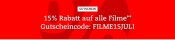 Bol.de: 15% Rabatt auf alle Filme