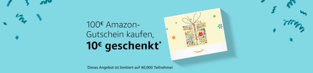 Amazon.de: Prime Day – 10€ Aktionsgutschein geschenkt beim Kauf eines 100€ Amazon-Gutscheins
