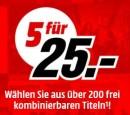 MediaMarkt.de: 5 für 25€ [Blu-ray] VSK-frei (bis 02.09.18)