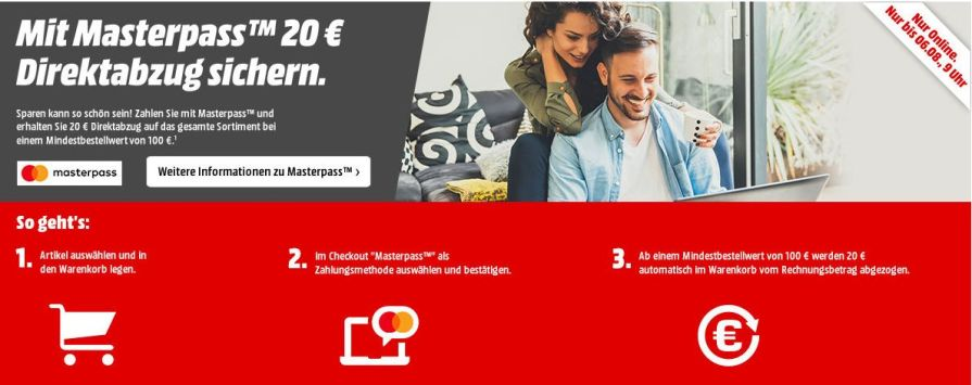 MM Masterpass Aktion 20€