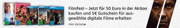 Amazon.de: Neue Aktionen u.a. Filmfest: für 50 EUR in der Aktion kaufen und 5€-Gutschein für digitale Filme erhalten (bis 19.08.18)