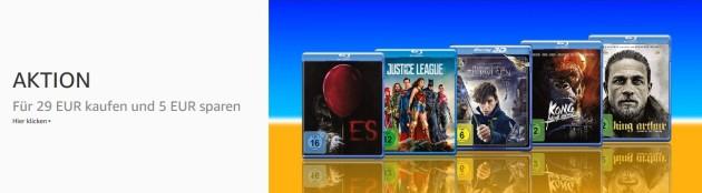 Amazon.de: Filme für 29 EUR kaufen und 5 EUR sparen