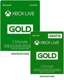 Amazon.de: 3 Monate Xbox Live Gold + 3 Monate GRATIS | Xbox Live Download Code für 19,99€ + VSK
