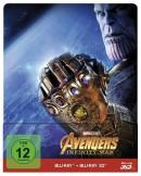 Dodax.de: Avengers: Infinity War 3D (Steelbook) [3D Blu-ray + Blu-ray] für 16,91€ inkl. VSK