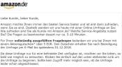 Amazon.de: 5€ Aktionsgutschein für eine Umfrage