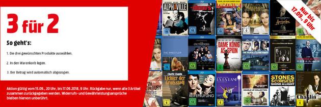 MediaMarkt.de: Arthaus Filme – 3 für 2 Aktion (bis 17.09.18)