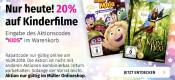 Mueller.de: 20% Rabatt auf Kinderfilme – Nur am 16.09.2018