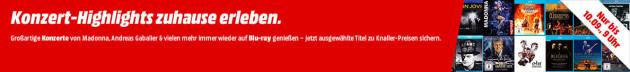MediaMarkt.de: 31 Konzert-Highlights zu Hause erleben (Blu-ray) ab 5€ + VSK