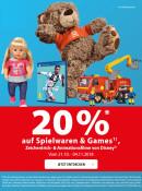 Müller: 20% Rabatt auf Spielwaren, Games & Disney Animationsfilme bis zum 04.11.2018