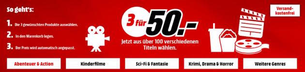 MediaMarkt.de: 3 UHD 4K Blu-rays für 50€ inkl. VSK