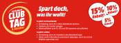 MediaMarkt.de: Club Tag am 9. Okt – Bis zu 15% Rabatt auf ein Artikel